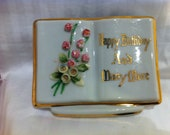 Vintage Happy Birthday Gift Vase