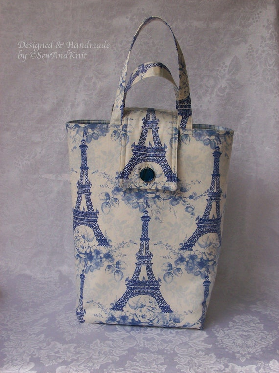 eiffel tower insulated tote lunch bag lunch sac purse in shades
