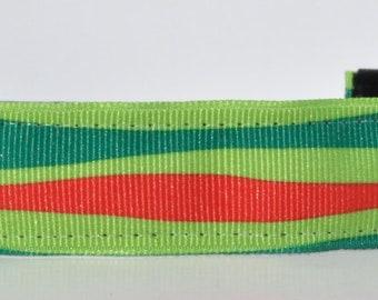 Christmas Headband - Red and Green Wave - Holiday Headband - Running Headband - Green Headband - Non Slip Headband - Bold Headband