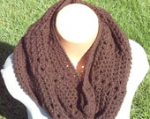 Chocolate Brown Shelly Cowl Scarf