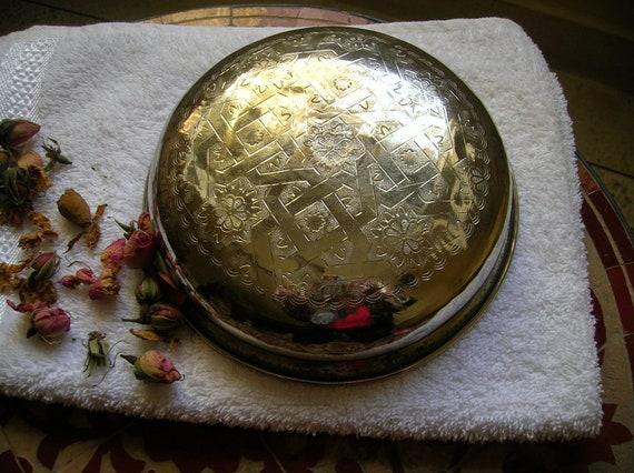 Vintage Moroccan hammam (oriental bathhouse )bowl
