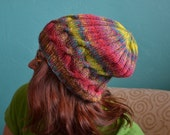 Lazy Cable Knit Slouch Beanie.