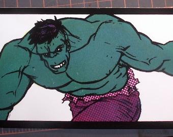 Hulk Avengers Pop Art Lichtenstein hand-pulled silkscreen print