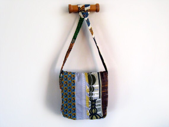 Wax Print Patchwork Shoulder Bag - Large Purse Messenger Bag