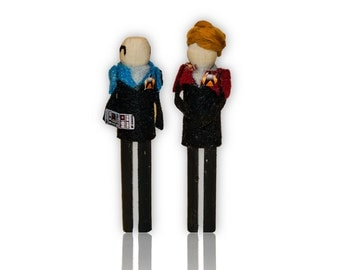 Star Trek Voyager Clothespin Doll Ornament Kit: Captain Janeway and EMH Doctor