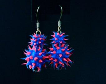 Double Spiky Drop Earrings