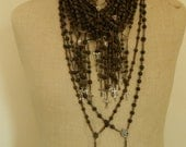 Antique French Wood Rosary
