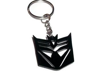 Deceptacon Keychain Keyring, Transformers, Men's Gift, Geeky
