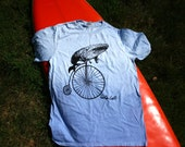 Organic T-Shirt - Hand-dyed - Whale Bike - FREE SHIPPING - On Sale