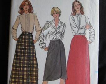 Butterick Womens Wrap Skirt Pattern Long OOP Vintage 3570 Uncut Size 12 Retro Maxi