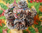Paper Garden Bouquet - Carnations (set of 6 with stems)
