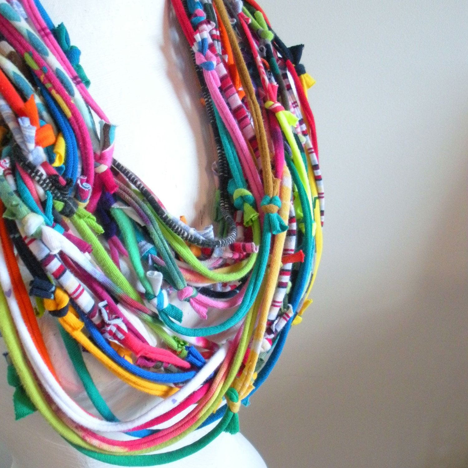 technicolor infinity scarf colorful chunky cowl by lovelysquid