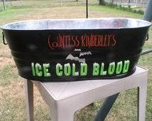 Galvanized Metal Backyard Party Tub