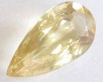 Natural Yellow Beryl, Brazil, Unheated, Pear 15.5x8.5mm, 4,66 carats