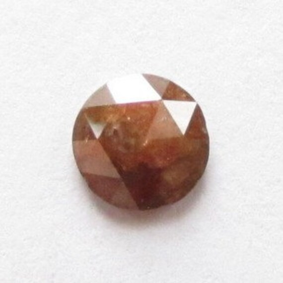Natural Orangy Red Diamond, Africa, Unheated, Round 5.9x1.8 mm, 0.55 carat