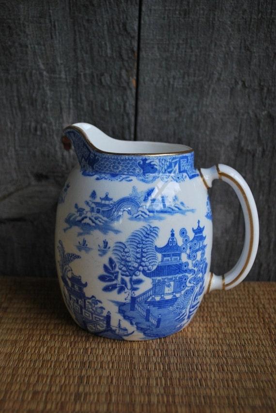 vintage transferware pitcher / creamer made in England