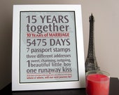 DIY - Personalized Wedding Anniversary Gift: Your Loves Journey By the Numbers - PRINTABLE