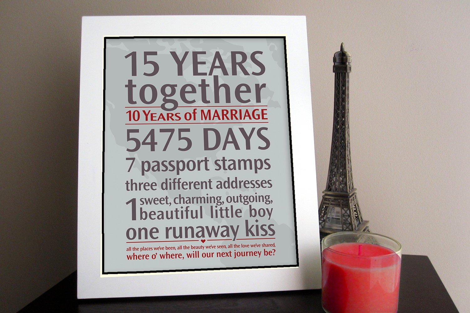 DIY Personalized Wedding Anniversary Gift: by jackaroodesigningco