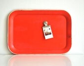 Red Metal Tray - Magnet Board
