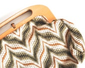 Retro Handbag - Chevron Bermuda Bag - Fall Colors