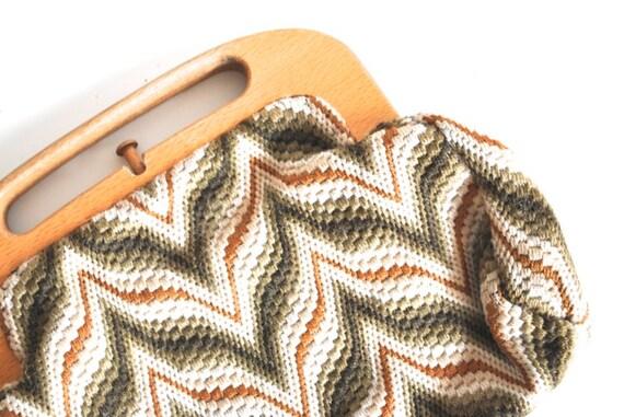 Retro Handbag - Chevron Bermuda Bag - Fall Colors