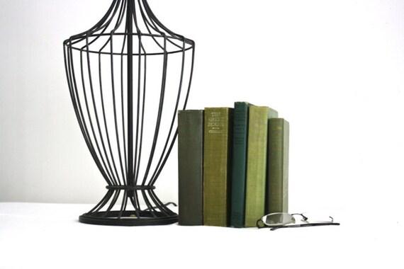 Black Mid Century Metal Lamp
