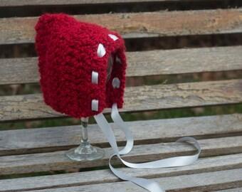Newborn Baby Bonnet - Pixie Hat