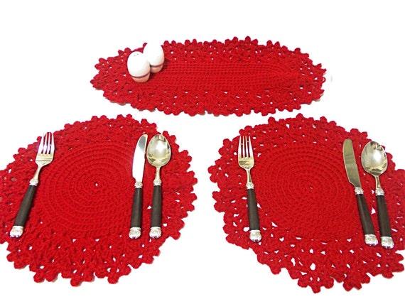 Accessoires de cuisine rouge - Napperon de cuisine ...