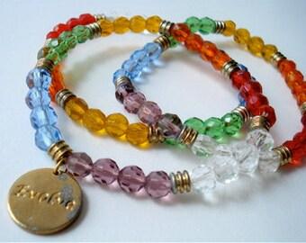 Rainbow Crystal Bracelet Set