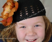 Children's size handmade crocheted beanies