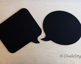 2 CHALKBOARD Speech Bubbles  Photo Booth Props Wooden Chalkboards Photo Booth Props for Wedding or Engagement Save the Date Maternity Props
