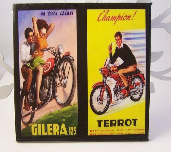 I want to ride my bike - set of 4 coasters