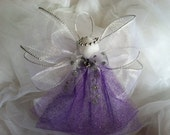 Angel Christmas Ornaments / Christmas Ornament / Holiday Ornament / Purple Angel / International Shipping Available