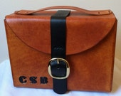Groomsman Gift Leather Shaving Bag, Toiletries Bag or Grooming Bag, Personalized with Embossed Initials