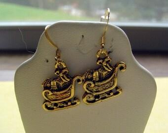 Xmas sleigh earrings