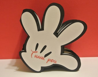 Thank you cards - Mickey Mouse Inspired