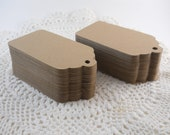 Wedding Wish Tree Tags Large Kraft Escort Gift Tags Rustic Primitive 3.5 Inch Blank Favor Labels - Set of 200