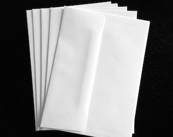 10 White A7 5.25 x 7.25 Standard Size Envelopes