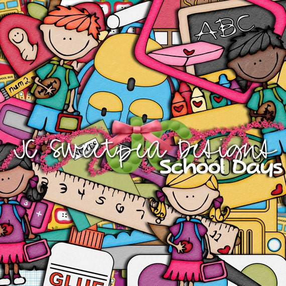 School Days Digital Scrapbooking Kit