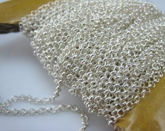 sterling silver chain,8 feet