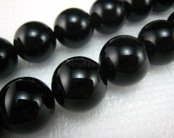 high quality Black Onyx round  bead 20mm 15 inch strand