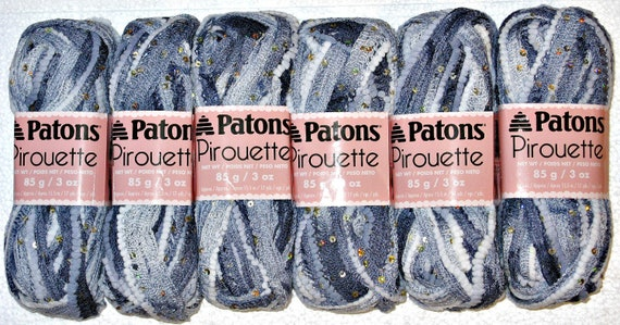 Pirouette Yarn - Twilight Sparkle - by Patons Ruffle Flounce Yarn