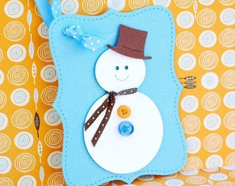 Frosty the Snowman Holiday Christmas Gift Tags  - set of 4