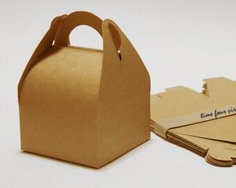 Set of 10, Kraft Gift Box, Cake Box,  Favor, Gift, Party