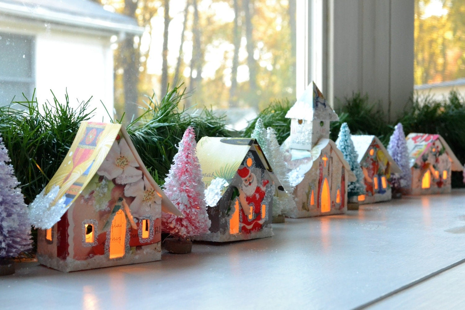 Create Your Own Putz Glitter House Village By Shescrafty121