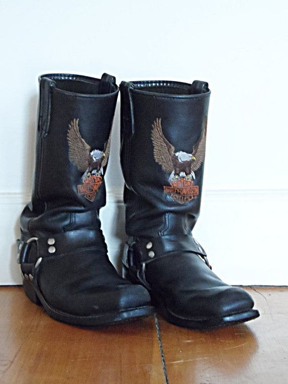 70's Slouchy Harley Boots