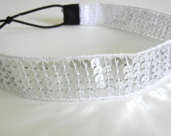 SALE // Silver Sequin Headband