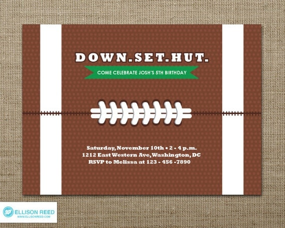 Football Invitation Football Party Football Birthday – Football Party Invites