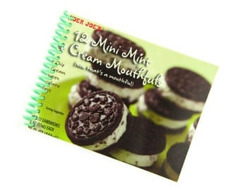 MINI MINT ICECREAM cookies recycled spiral bound journal notebook