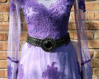 Upcycled Hand Dyed Wedding Dress.